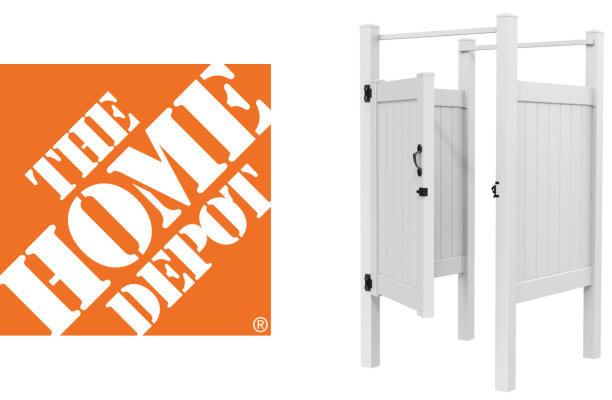 Home Depot Logo with Economy Shower Enclosure