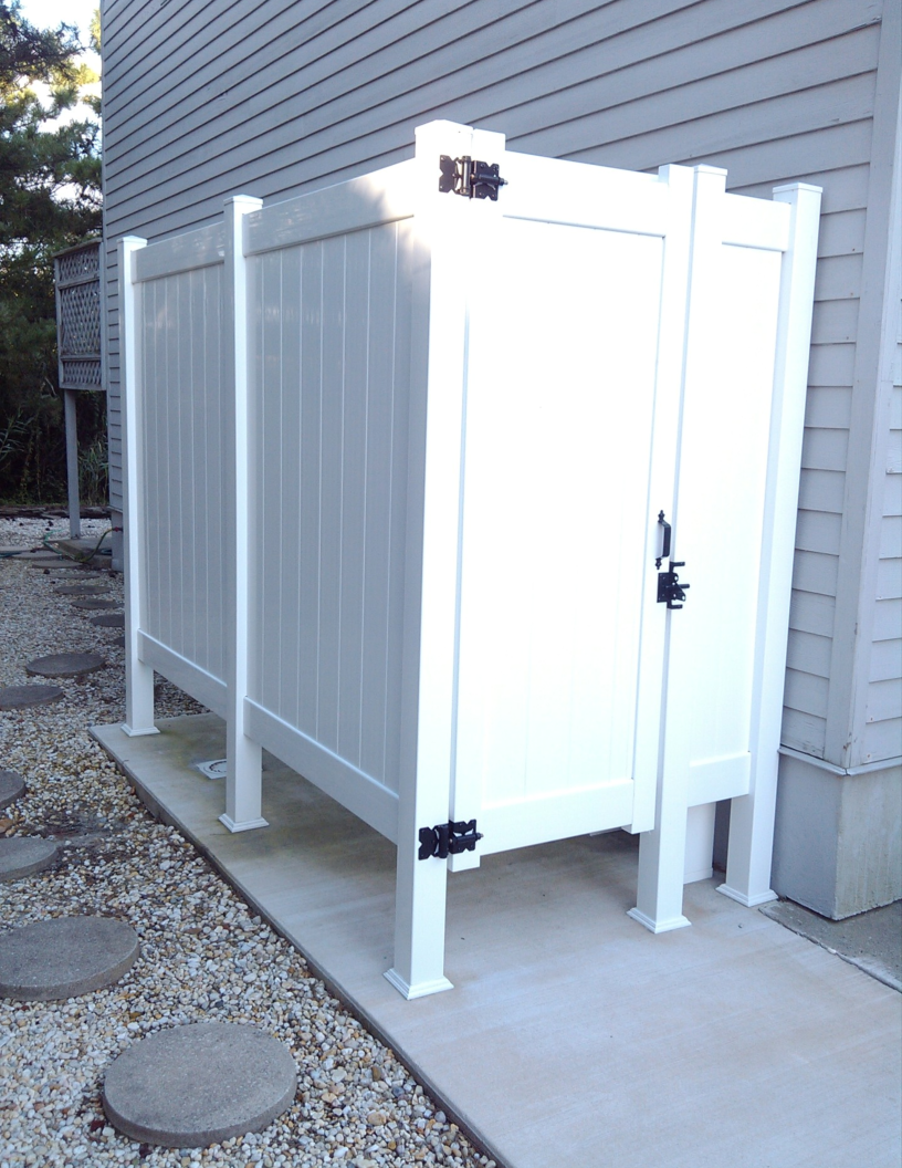 Image gallery outside shower stalls for Exterior enclosure