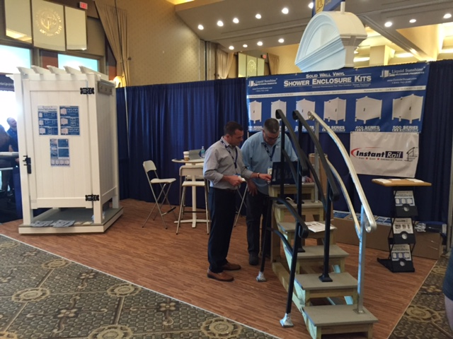 Liquid Sunshine Booth at the JLC Live Residential Construction trade show in Rhode Island 2016